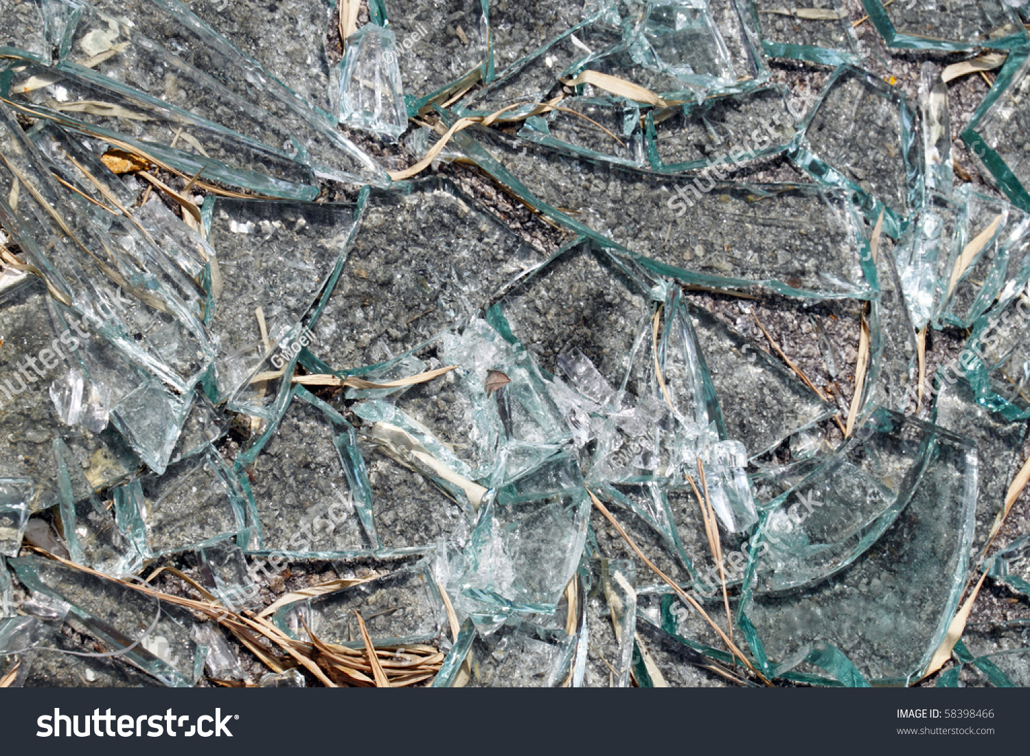 Shattered glass broken into pieces on stock photo 58398466 for What to do with broken mirror pieces