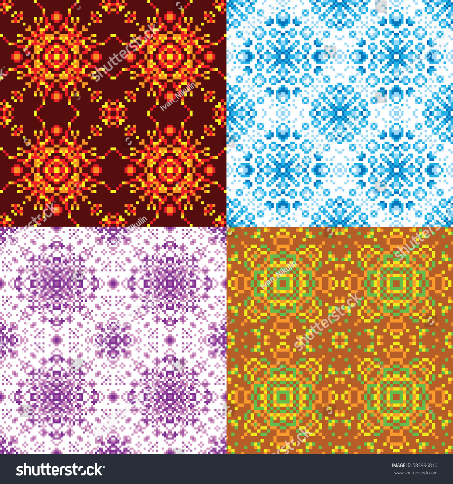 Blue cloth texture background in mosaic style. Fabric canvas ...
