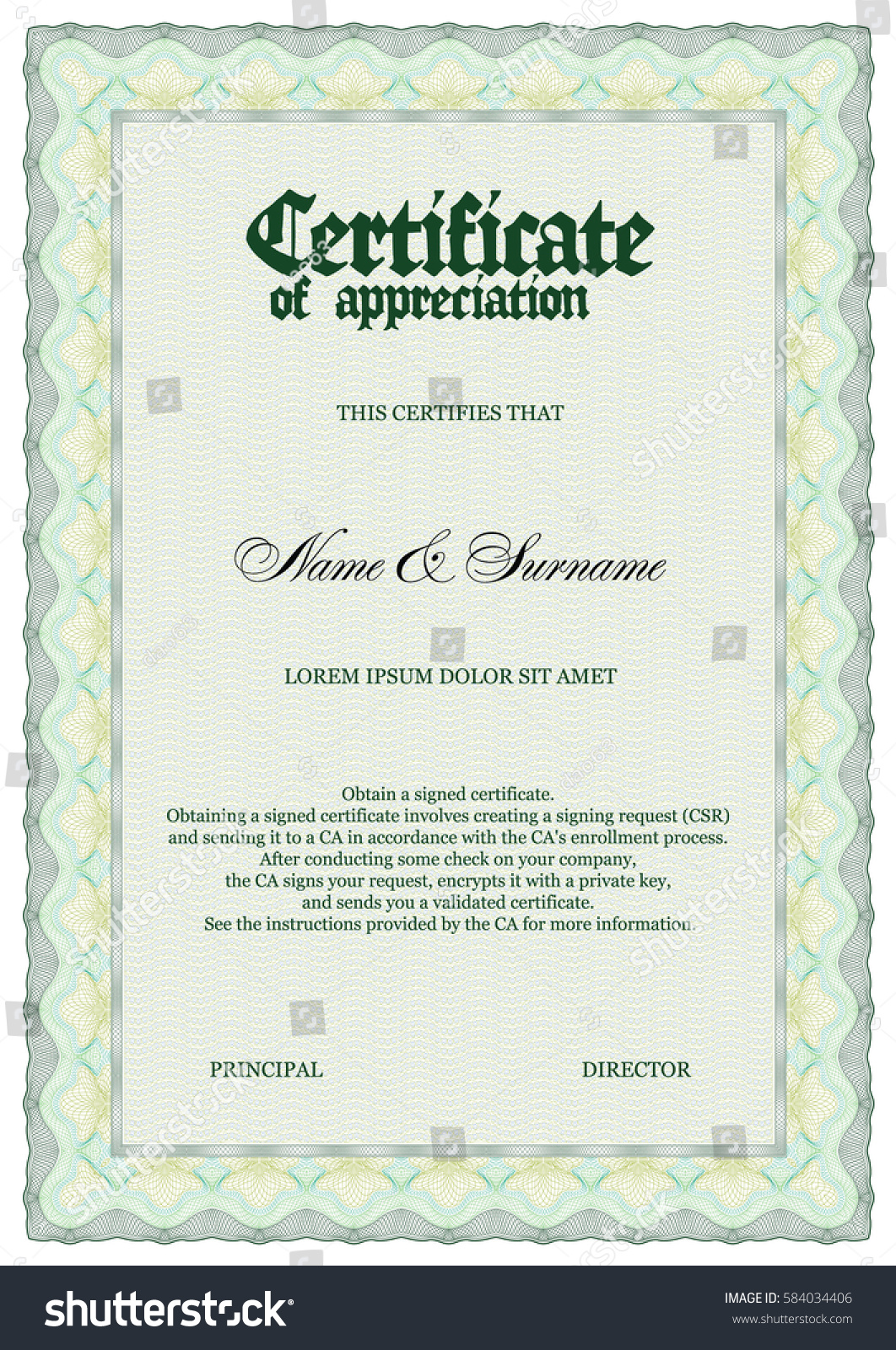 Certificate template size gallery templates example free download vector certificate template size a4 stock vector 584034406 vector certificate template size a4 alramifo gallery yelopaper Gallery