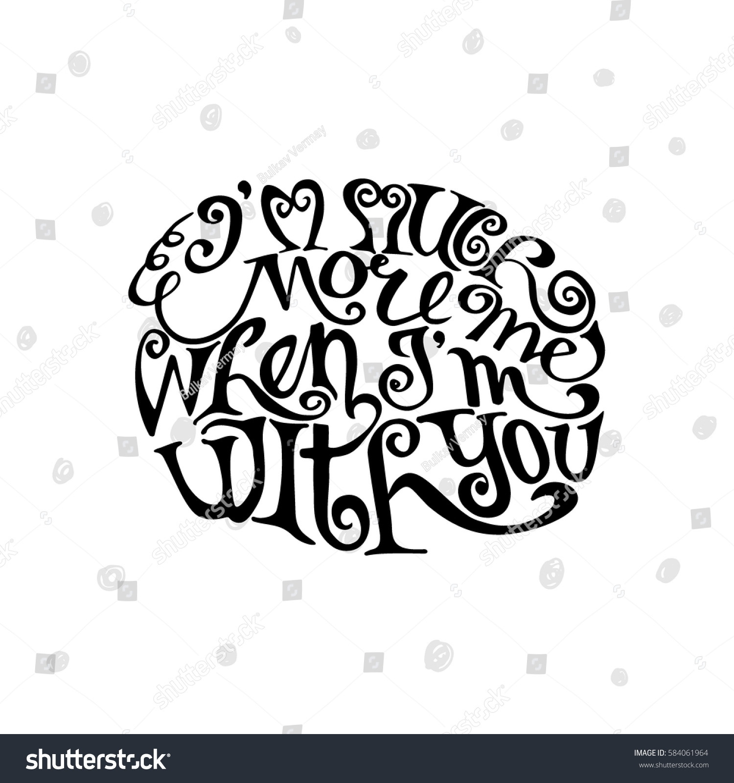 Much more me when you hand stock vector