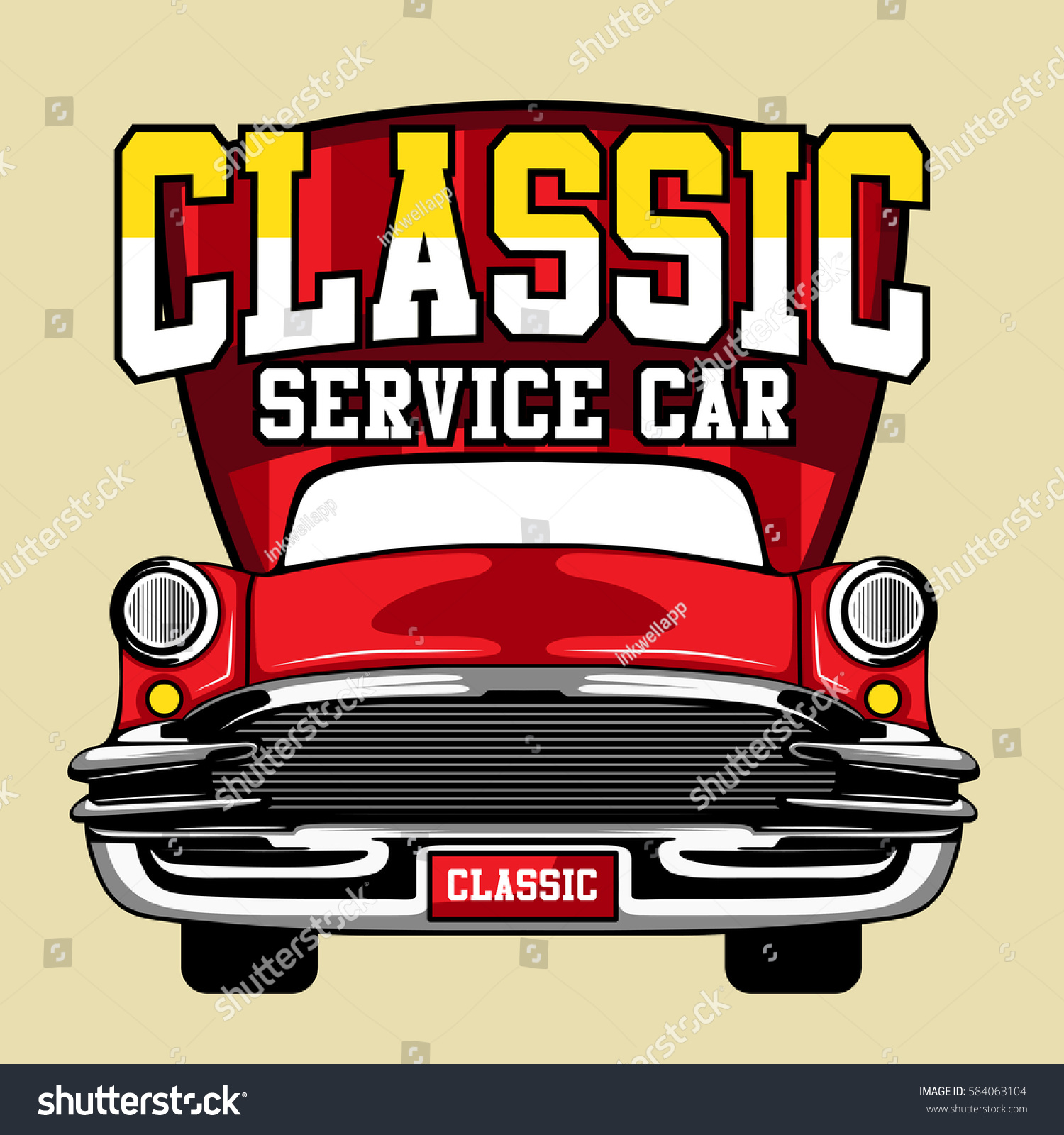Classic Car Service Stock Photo (Photo, Vector, Illustration ...