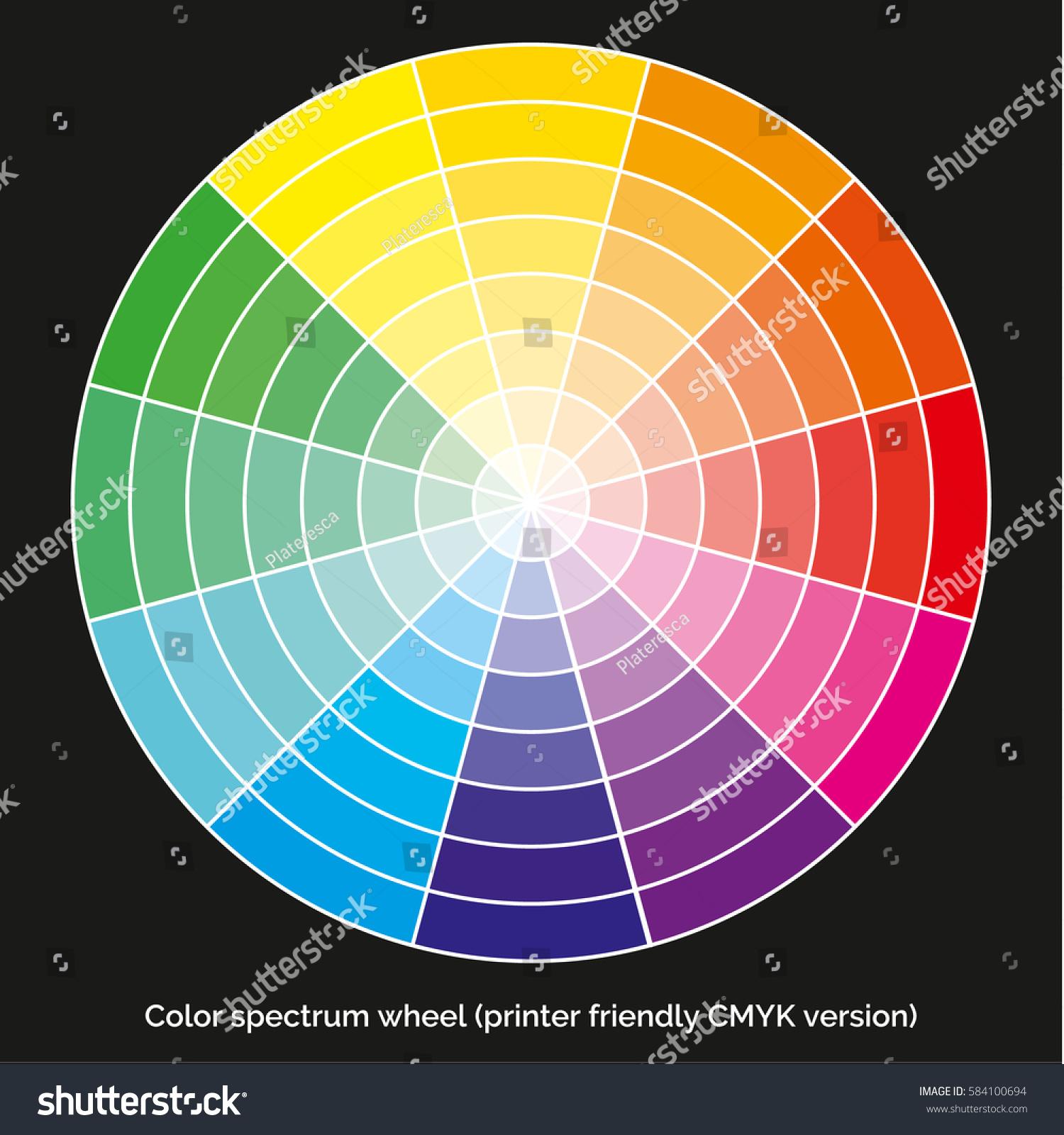 Vector Color Spectrum Itten 12 Color Wheel Stock Vector Royalty