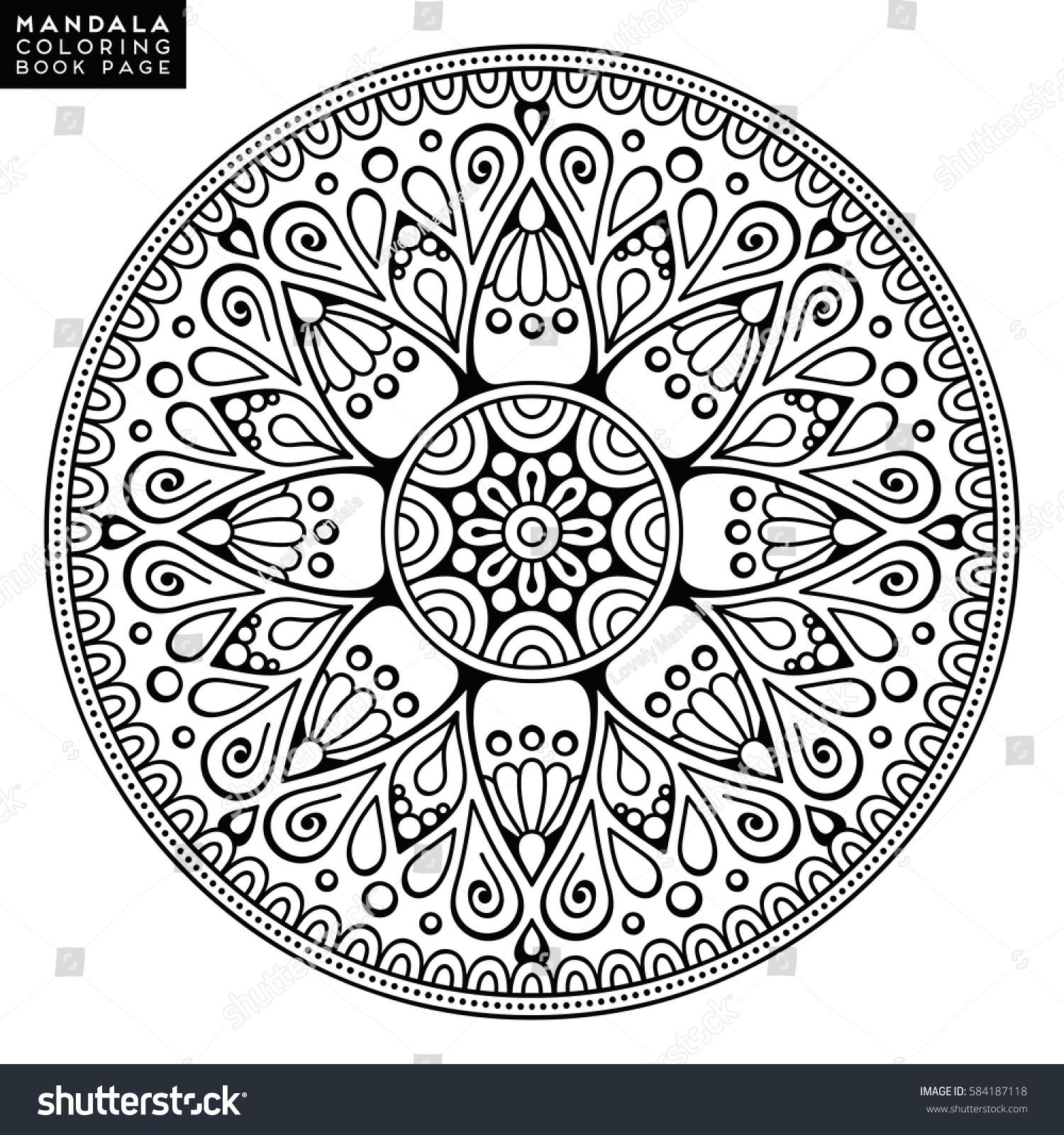 Flower Mandala Vintage Decorative Elements Oriental Stock Vector 584187118