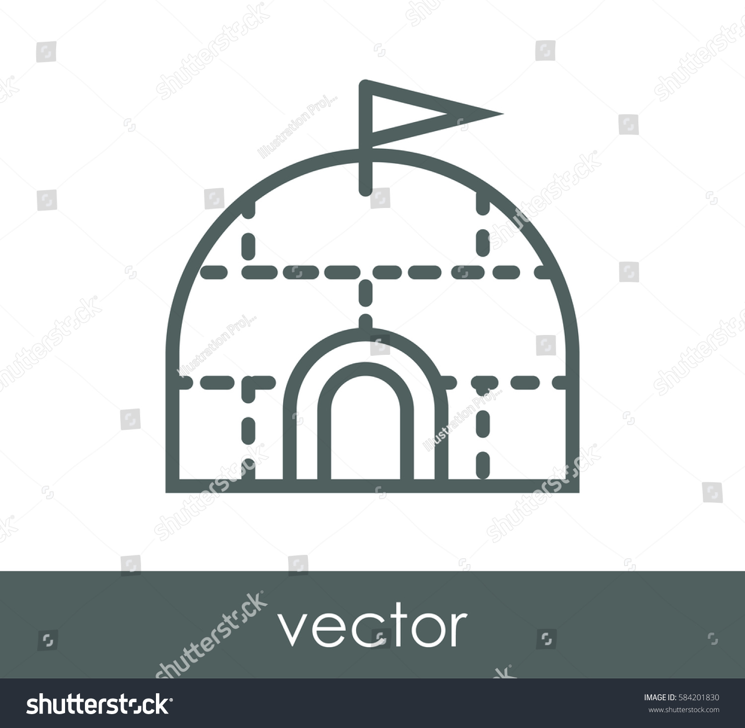 Igloo icon stock vector 584201830 shutterstock igloo icon pooptronica