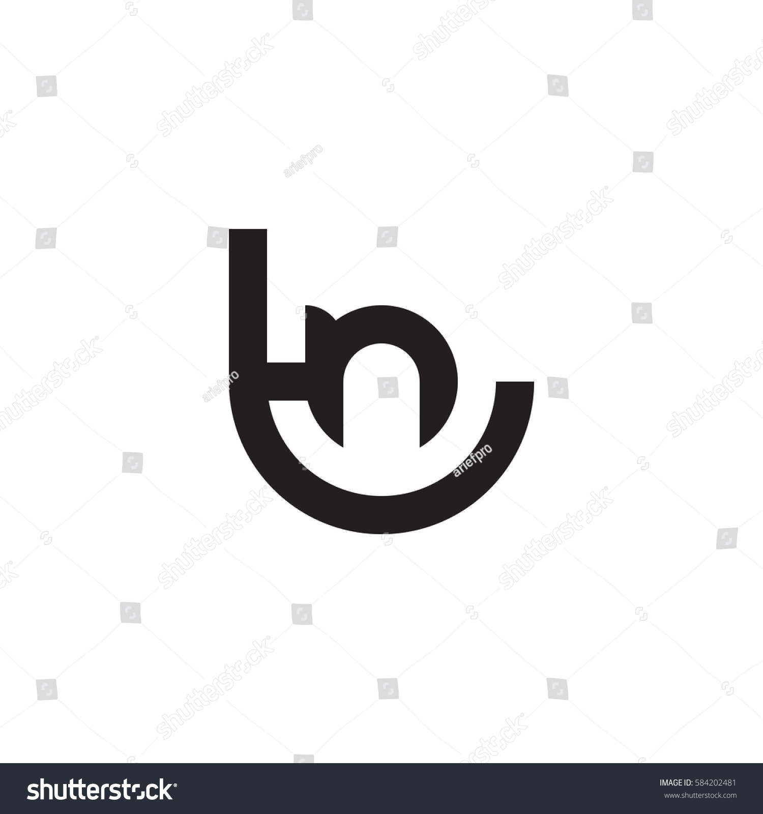 Initial Letter Logo Tn Nt N Stock Vector Royalty Free 584202481