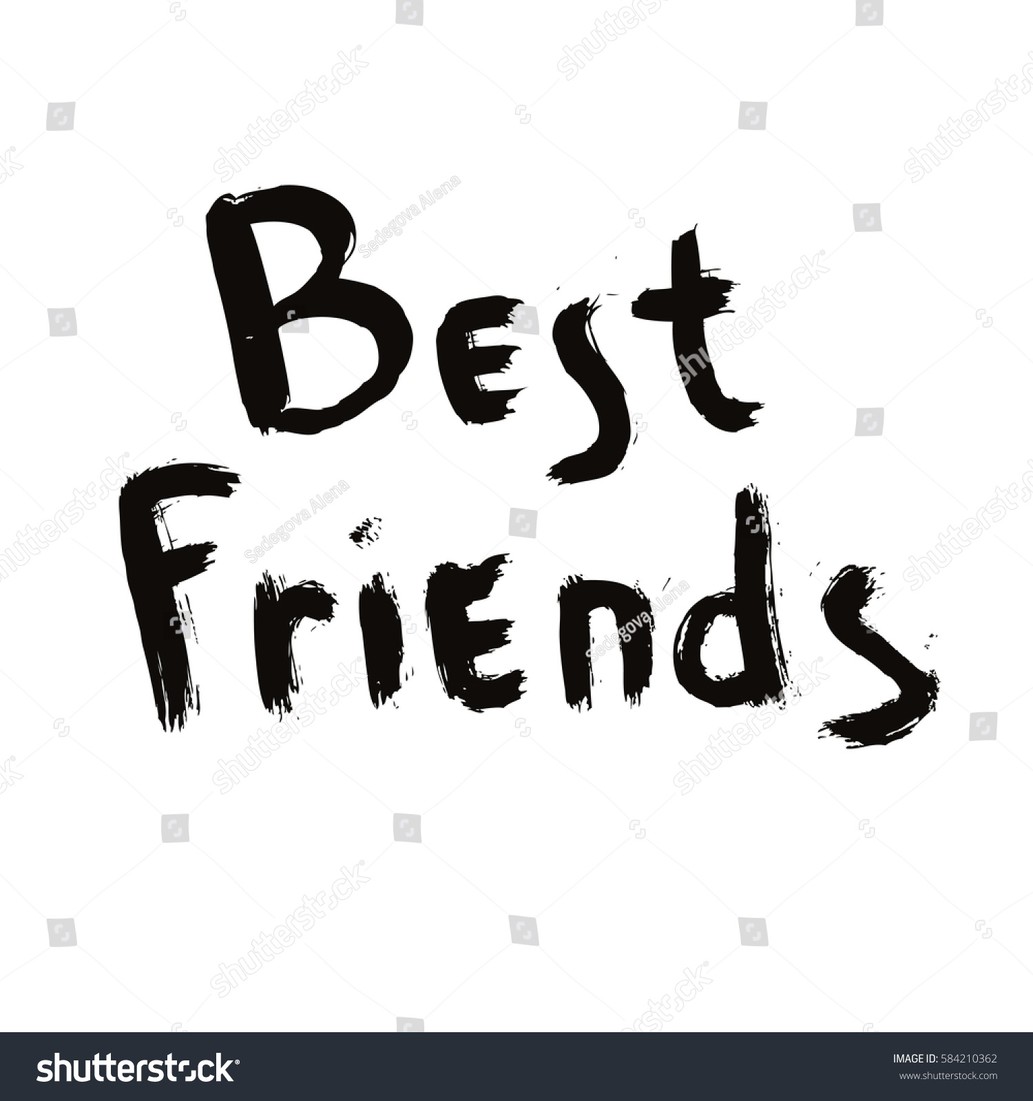 Best Friends Calligraphy Best Friends Writings Stock