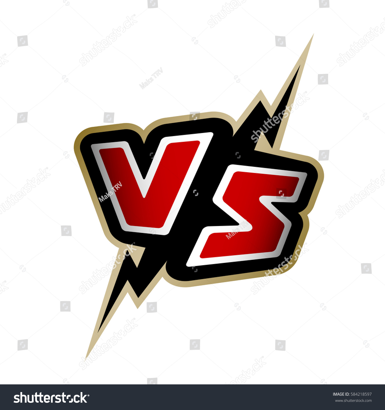 Versus Letters Vs Logo Stock Vector (Royalty Free) 584218597