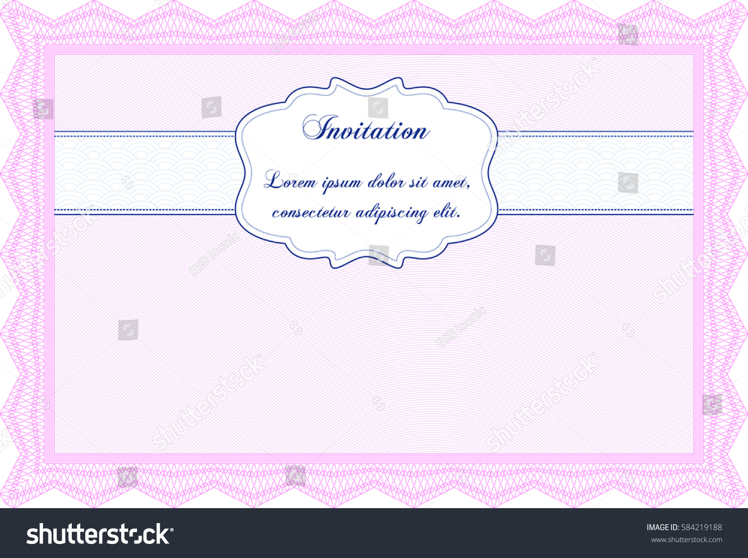 vector illustration formal invitation template icon stock vector vector illustration of formal invitation template icon in pink color