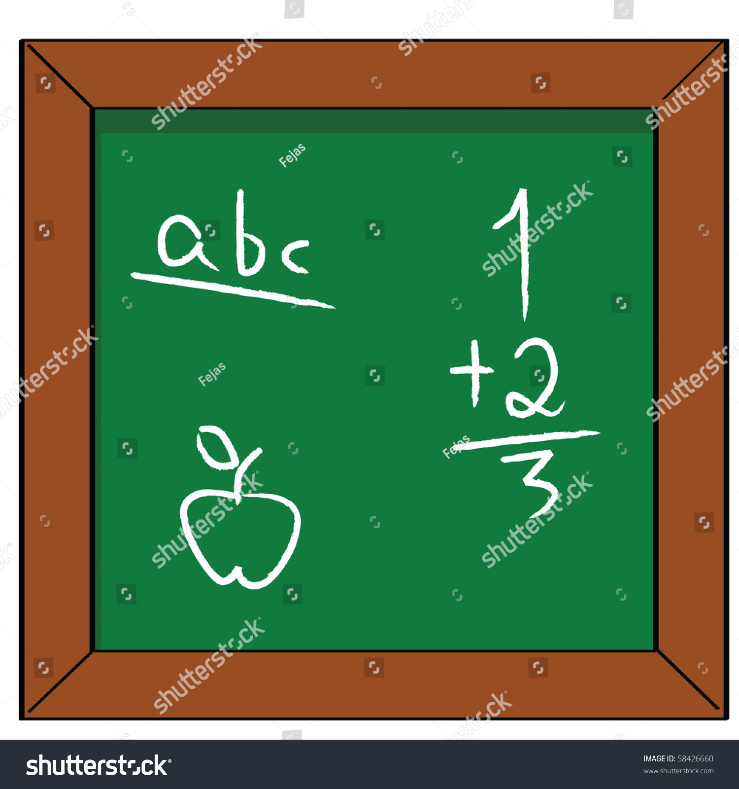 Worksheet Math And Reading cartoon jpeg illustration of a school blackboard with some basic save to lightbox