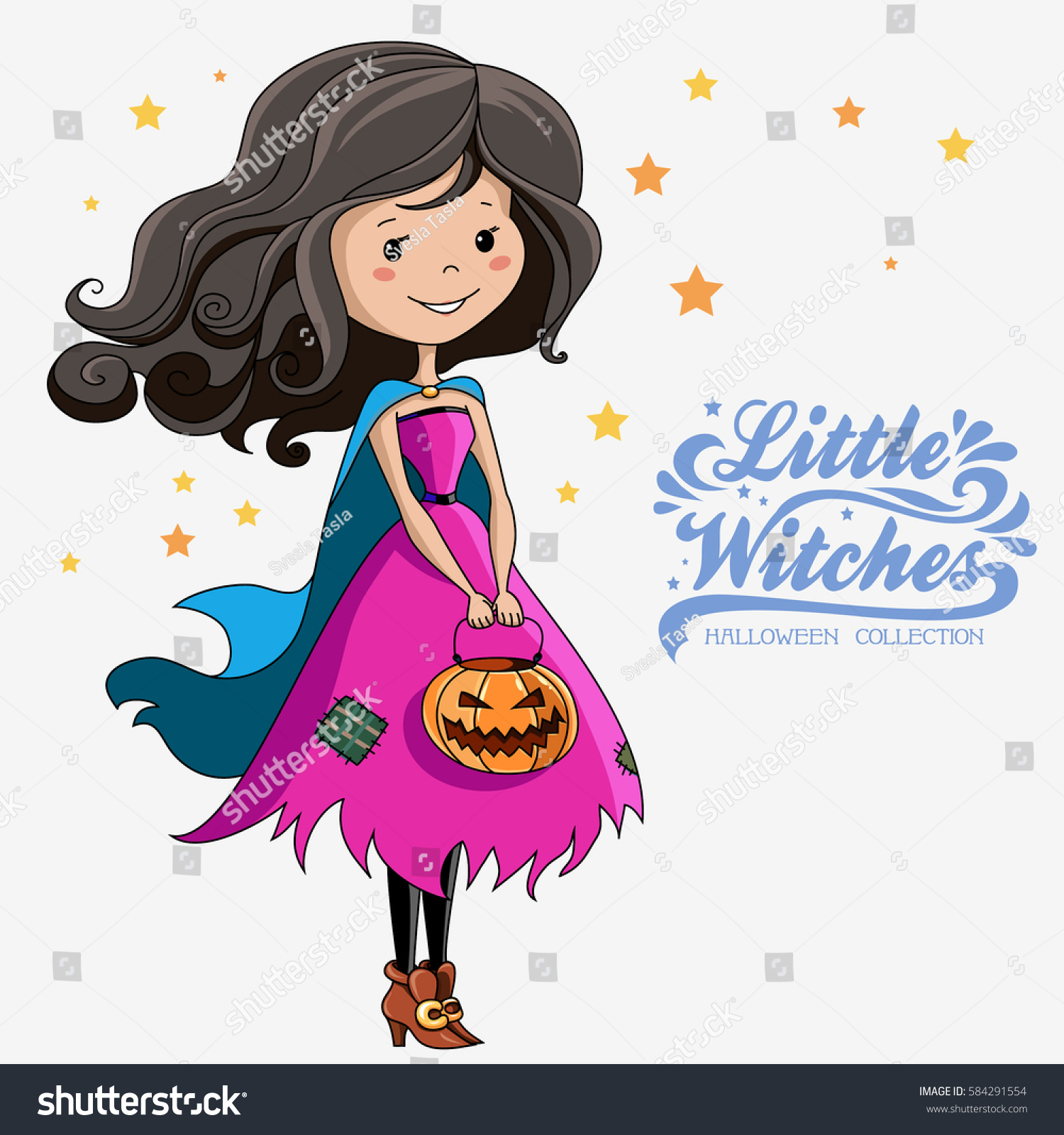Uncategorized Witch Pictures To Print little witch halloween print on stock vector 584291554 t shirts bags stickers or