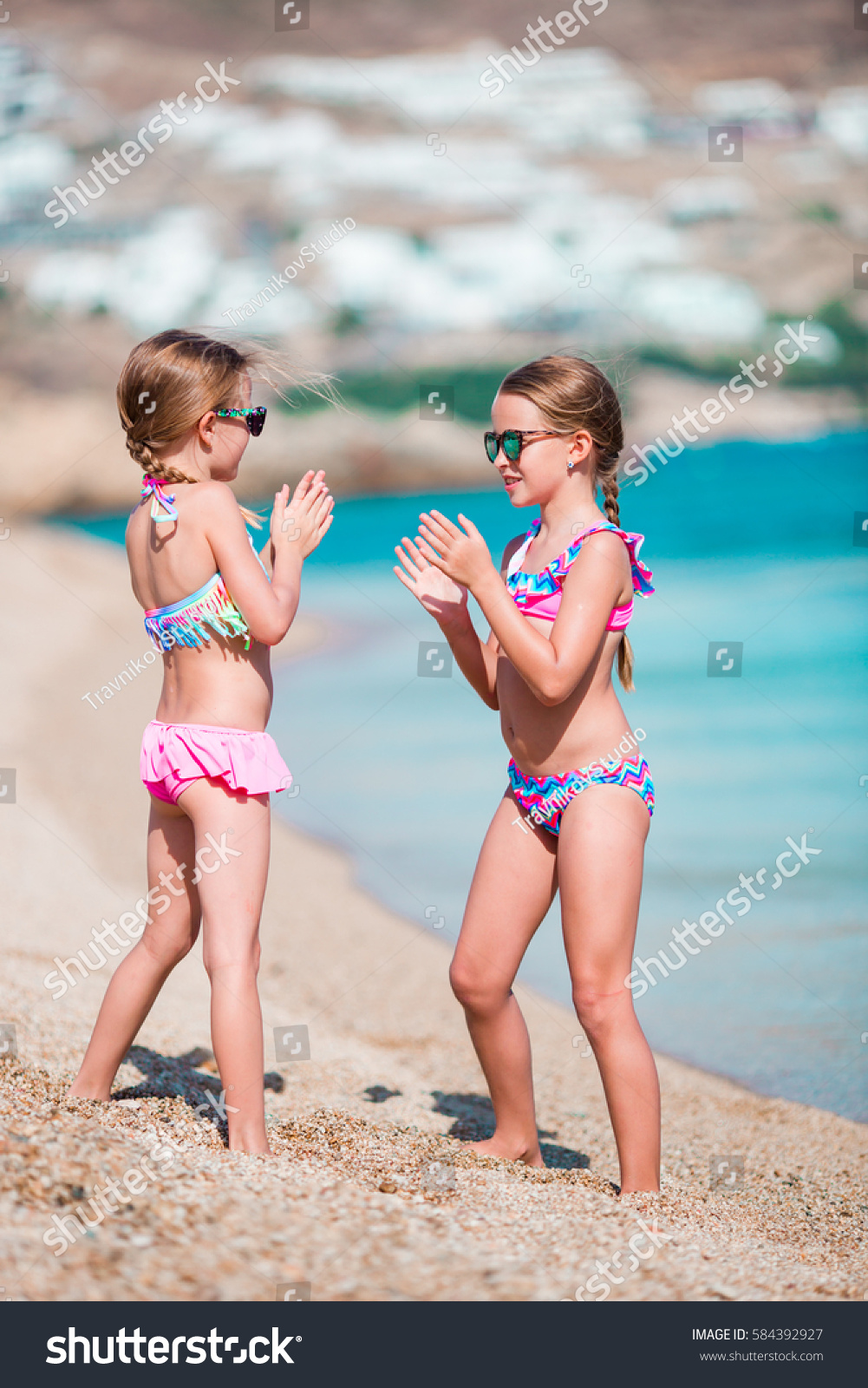 39372a9188c6c Adorable Little Girls Having Fun During Stock Photo (Edit Now ...