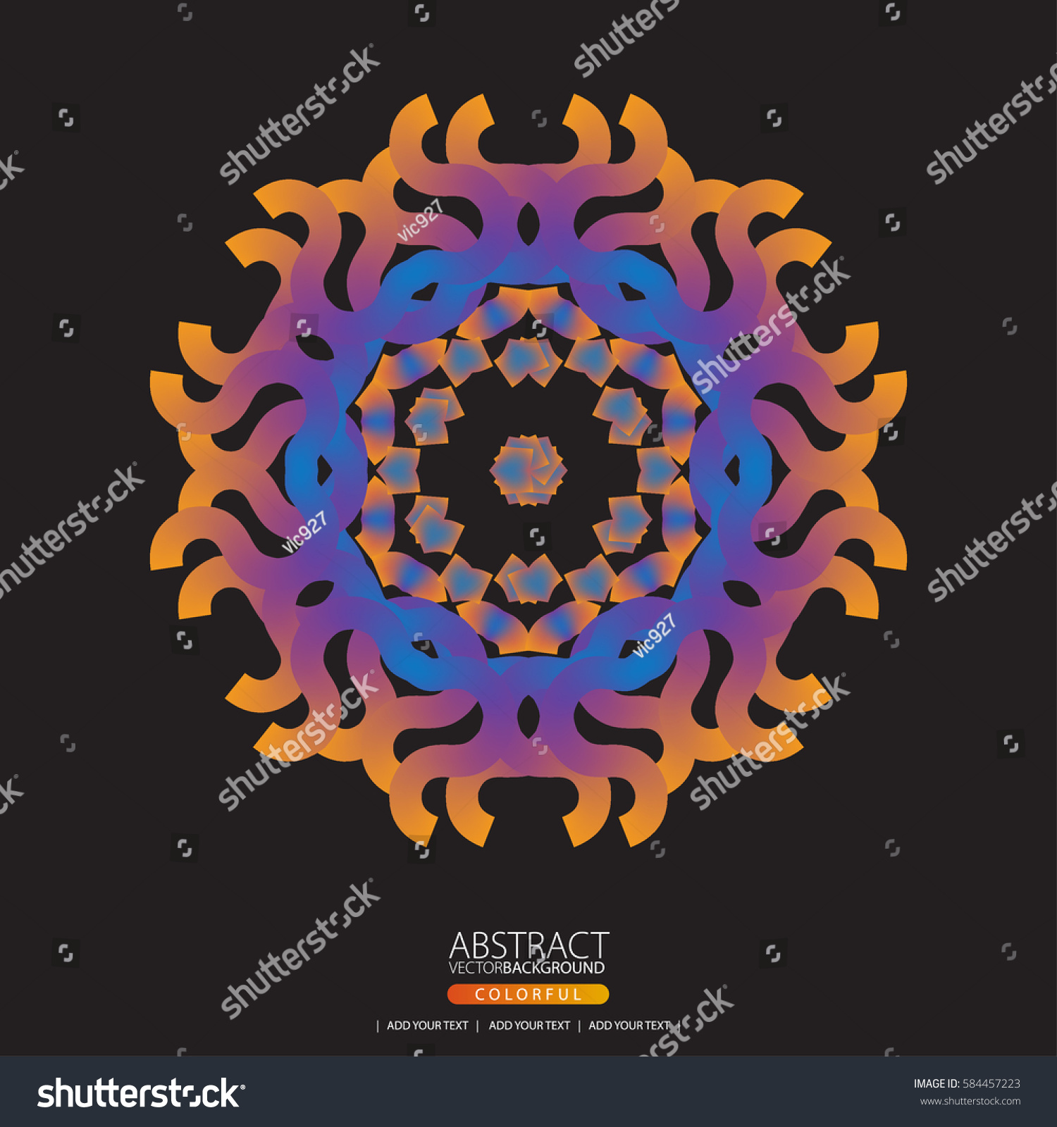 Abstract Glowing Light Flower Symbol Life Stock Vector Hd Royalty