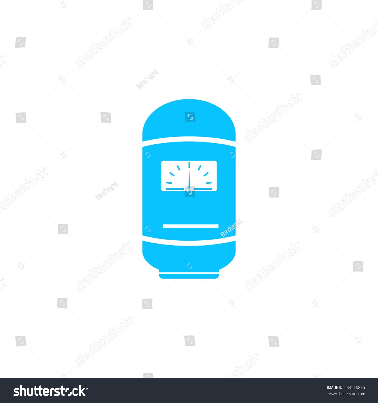Boiler Icon Flat Simple Blue Pictogram Stock Illustration 584516836 ...