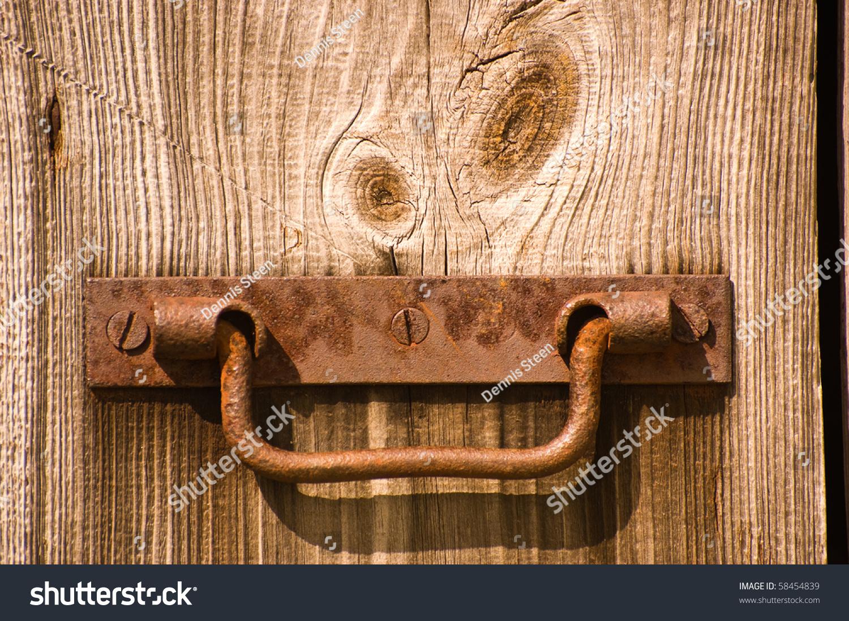 Old Barn Door Rusty Handle Stock Photo Edit Now 58454839
