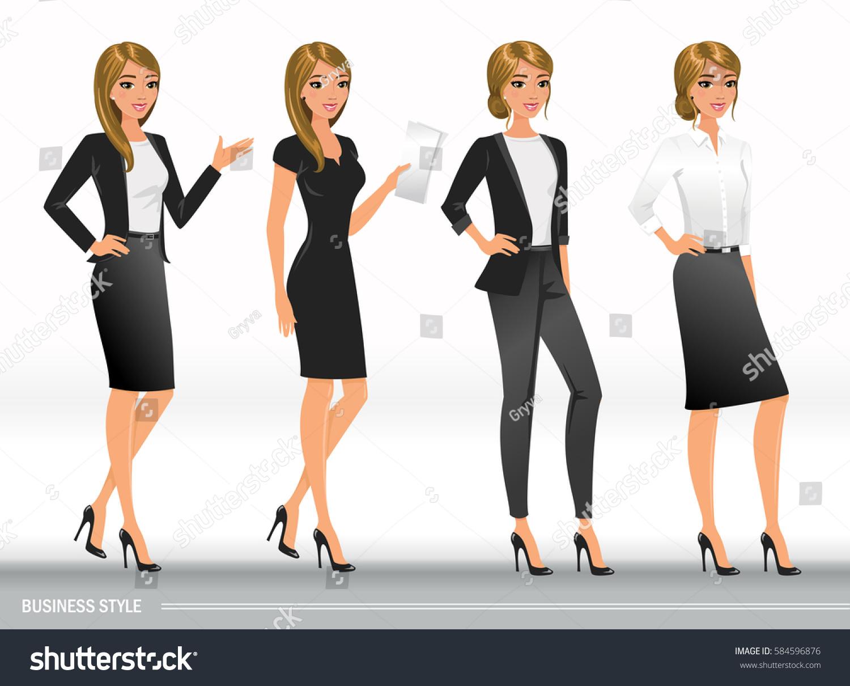 Elegant Business Women Formal Clothes Base Stock Vector ...
