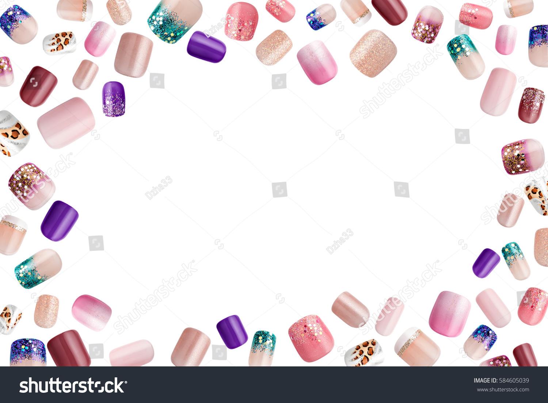 Beautiful False Nails Nail Polish Sample Stock Photo (Royalty Free ...