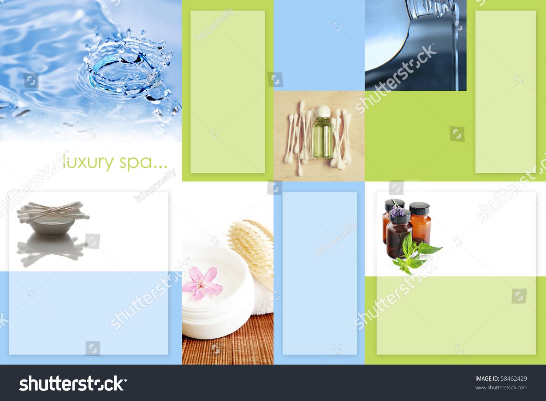 spa tri fold brochure template 2 sided stock photo. Black Bedroom Furniture Sets. Home Design Ideas