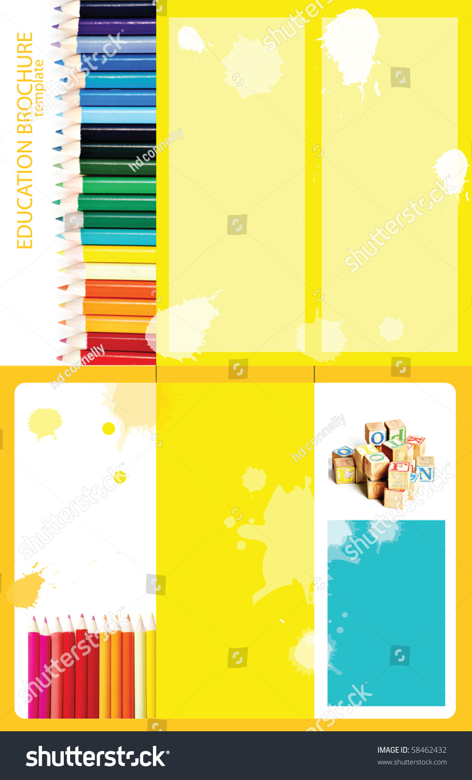 2 sided brochure templates - educational themed tri fold brochure template 2