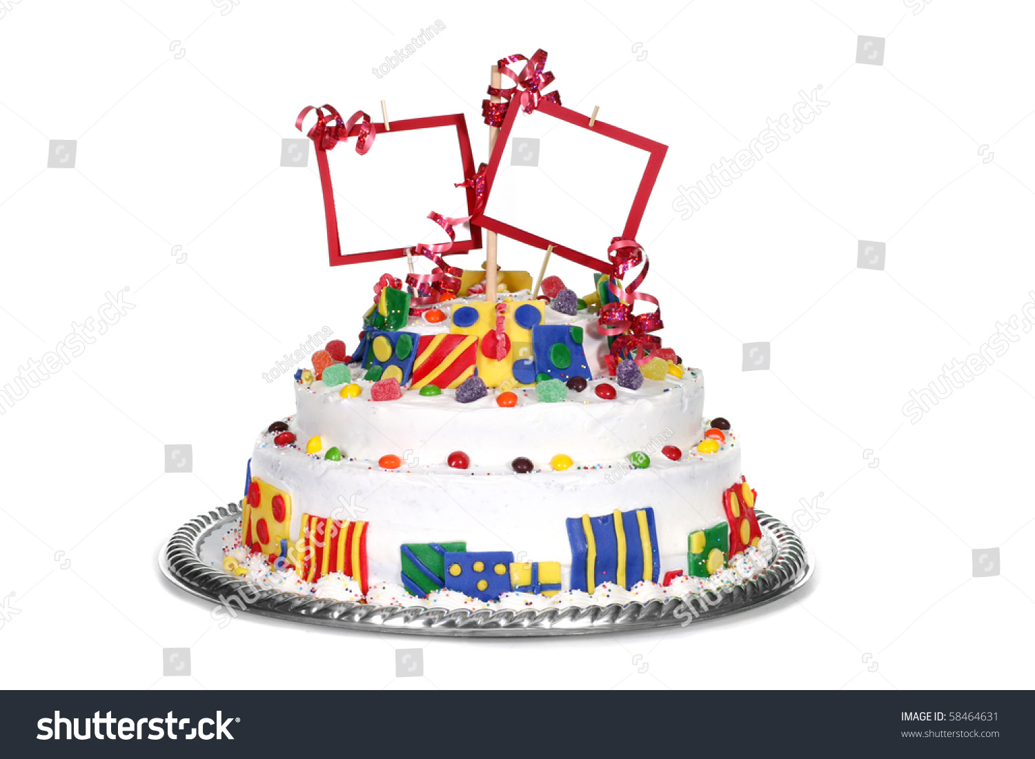 Birthday Cake Blank Space Your Message Stock Photo Edit Now