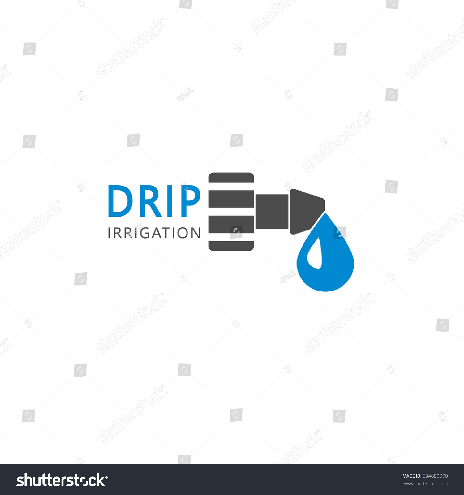 Drip irrigation system logo design vector stock vector - Logo lavage machine ...