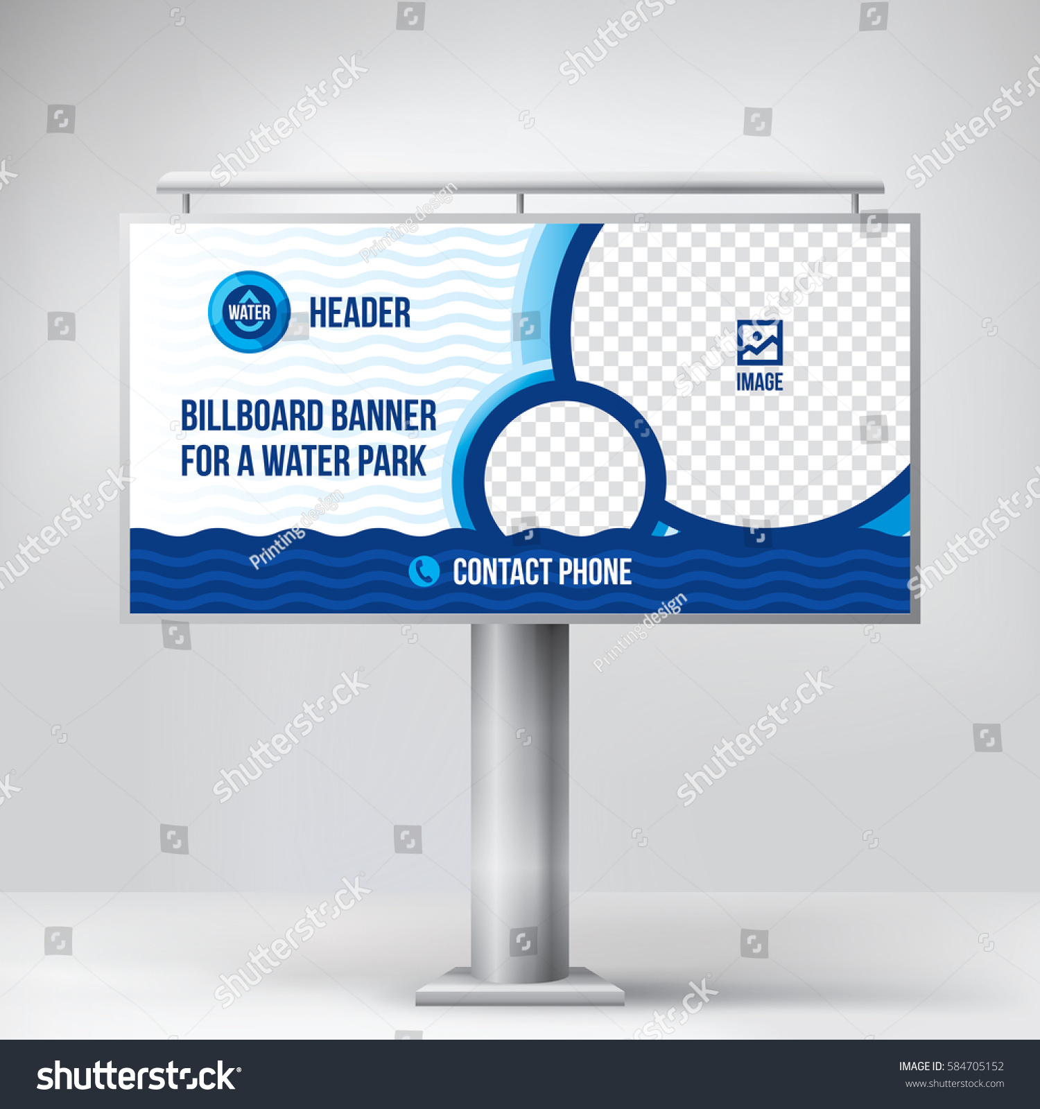 Billboard design water park template background stock vector billboard design for water park template background vector maxwellsz