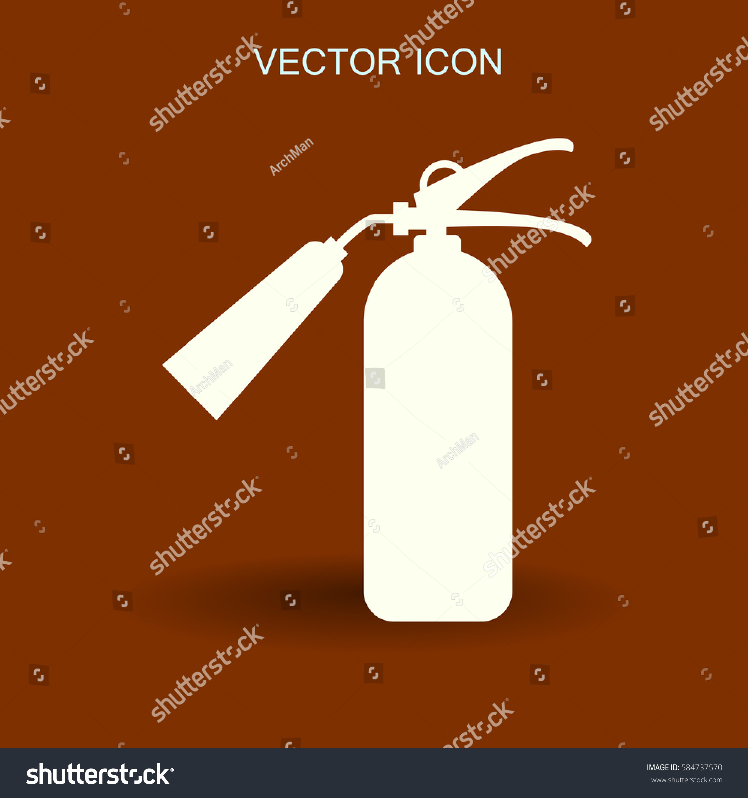 sign fire extinguisher icon vector illustration stock
