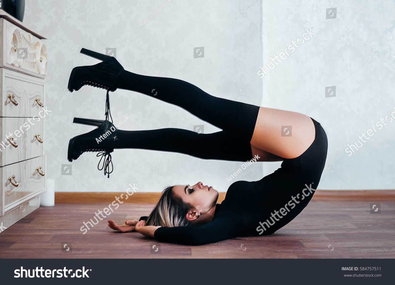 Upside down ballet boots