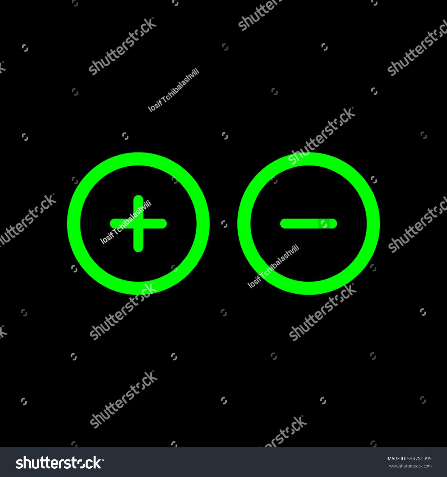 Similar Images Stock Photos Vectors Of Plus Minus Sign Circle