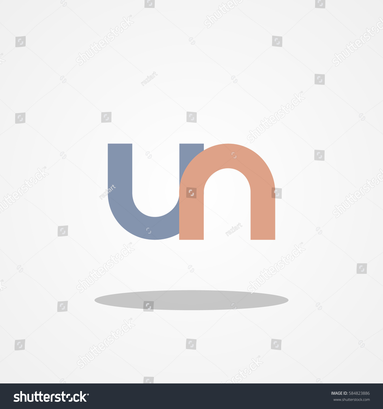 Initial letter un lowercase logo design stock vector 584823886 initial letter un lowercase logo design template gray blue brown spiritdancerdesigns Choice Image