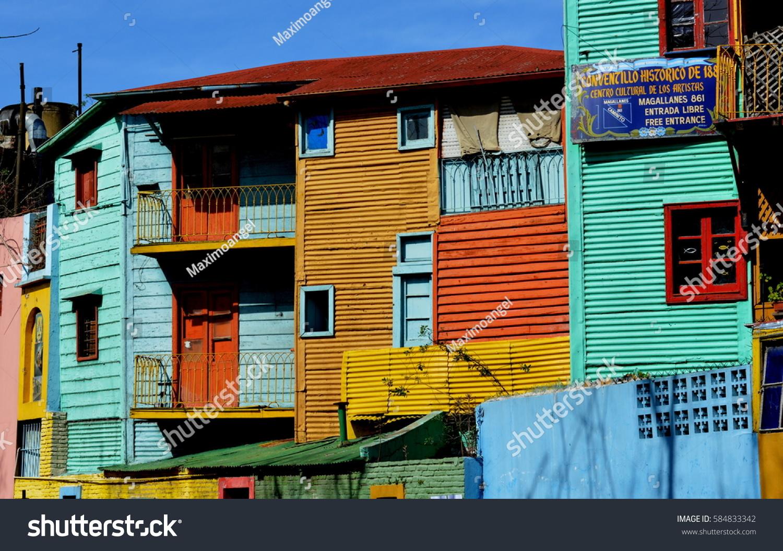 La Boca Buenos Aires August 18 Stock Photo (Edit Now) 584833342 ... f0b662320e763