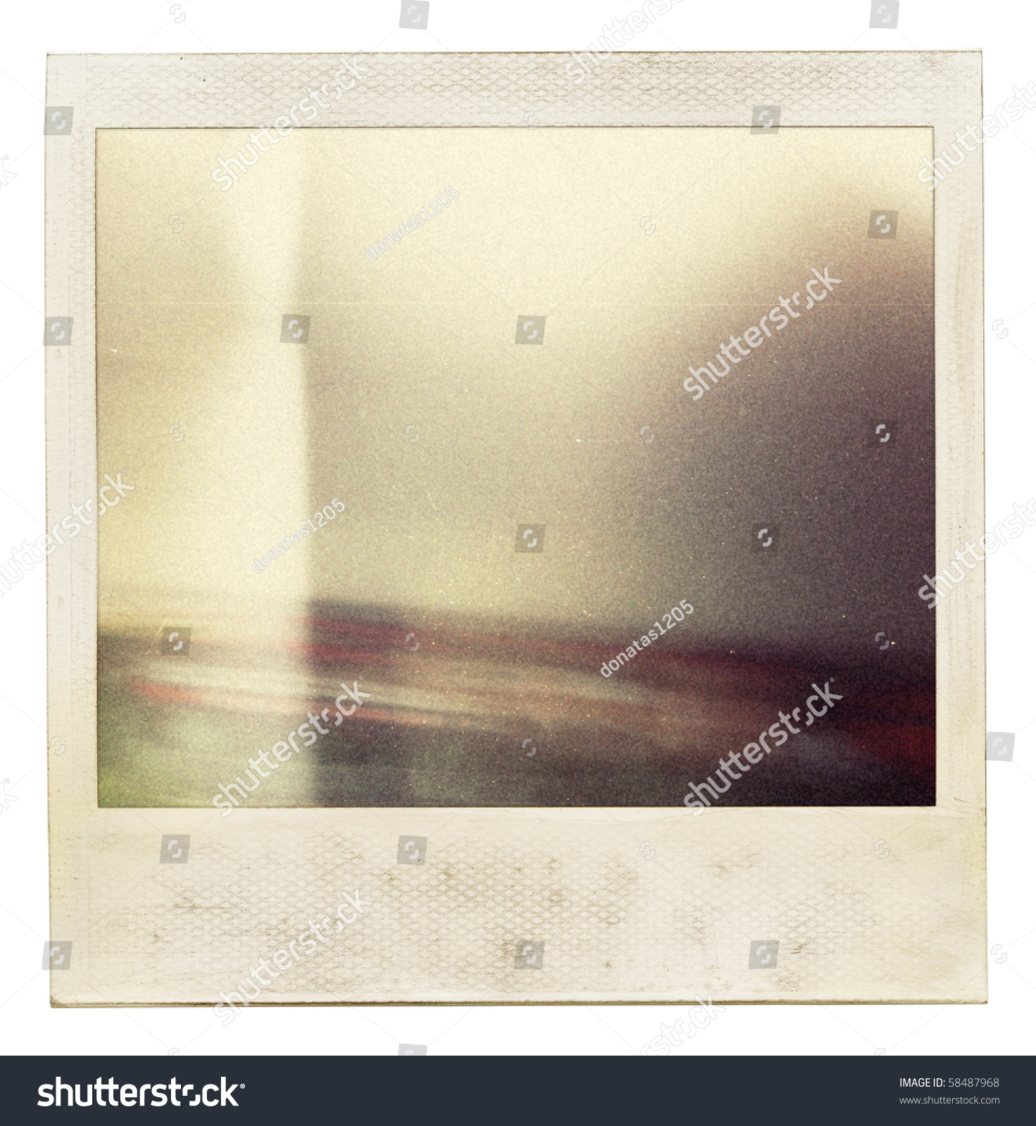 designed grungy instant film frame with abstract filling grain added as vintage effect