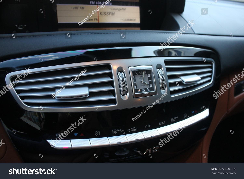 September 3 2016 Lviv Ukraine Mercedes Car Interior Luxury