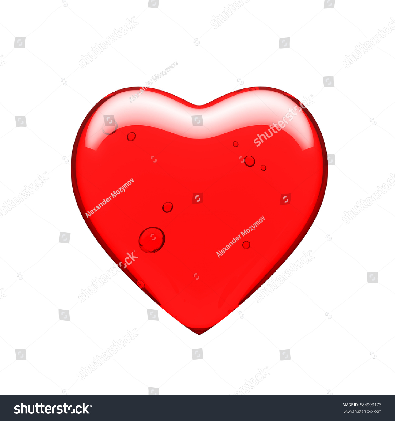 Glass heart on white background 3d stock illustration 584993173 glass heart on a white background 3d render illustration a symbol of love and biocorpaavc Images