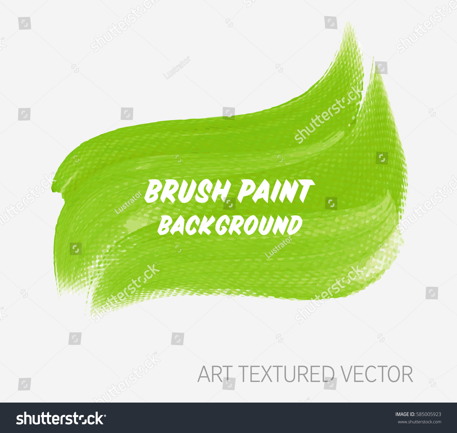 Logo Brush Painted Watercolor Background Abstract Stock Vector