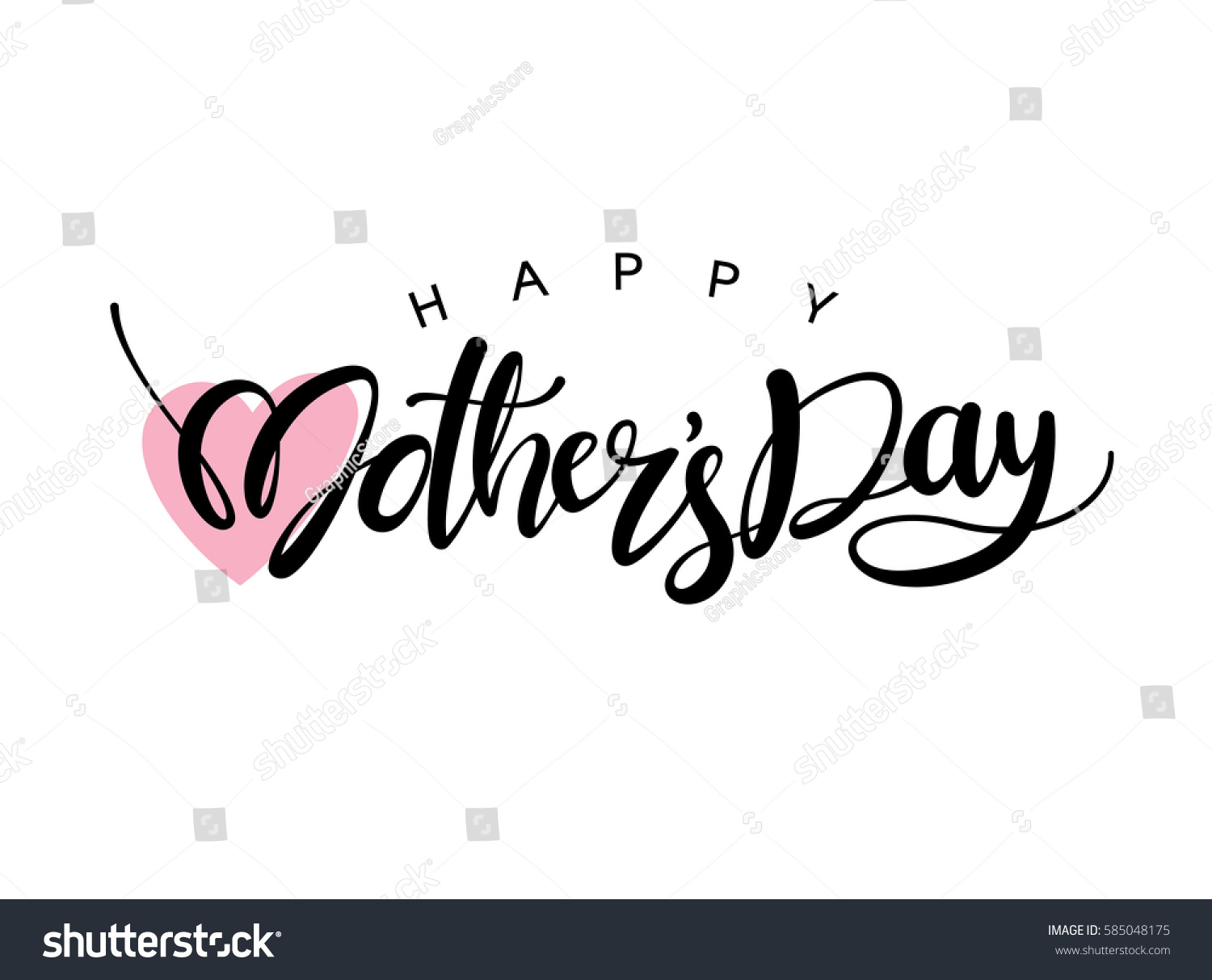 Happy Mother's Day Calligraphy Background #585048175