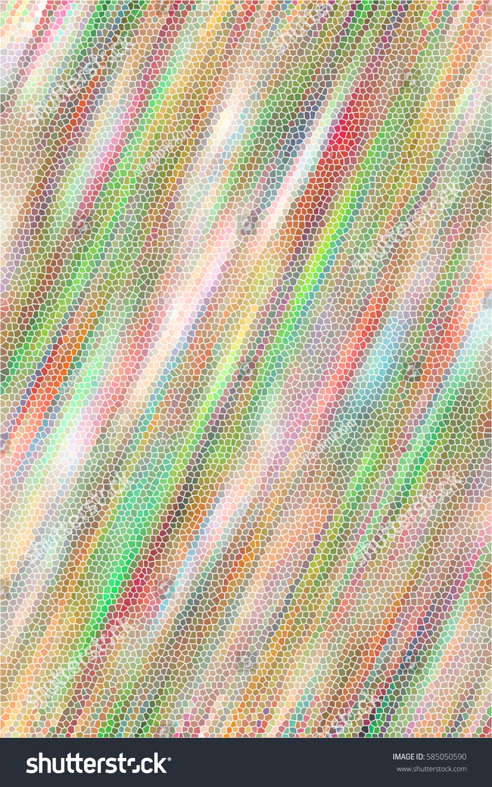 Colorful Sloping Mosaic Textured Vertical Background For Textile
