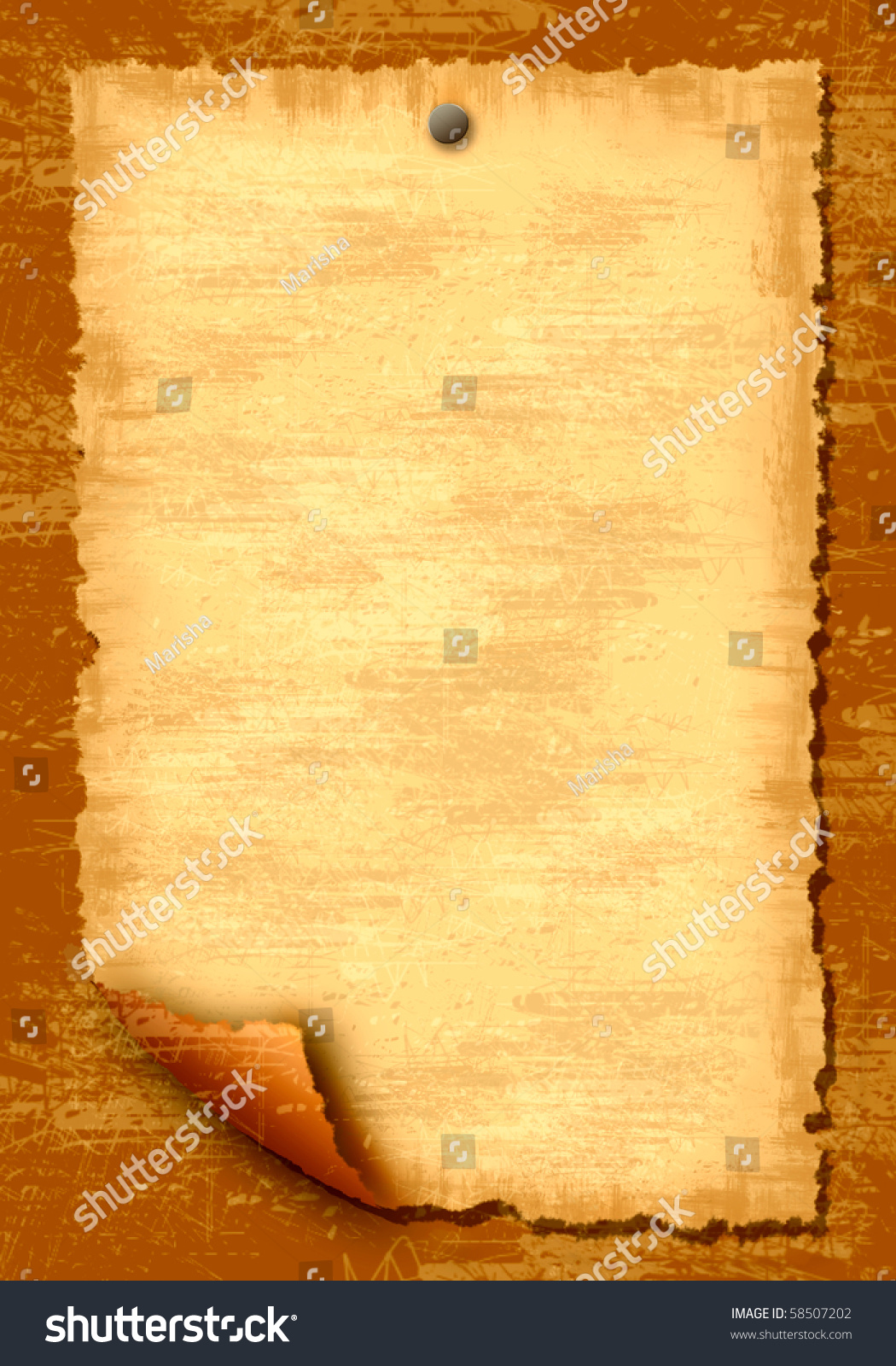 Old Paper Scroll On Wooden Texture Stock Illustration