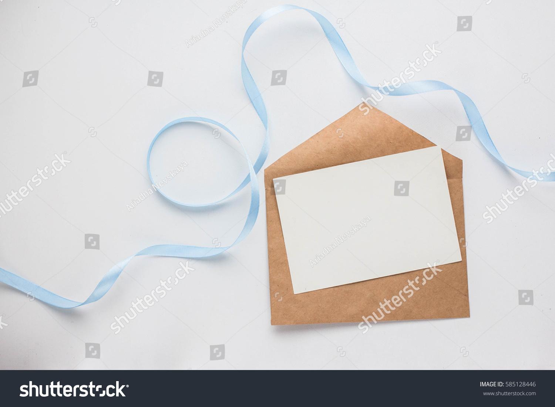 Workspace Mockup Wedding Invitation Cards Envelopes Stock Photo ...