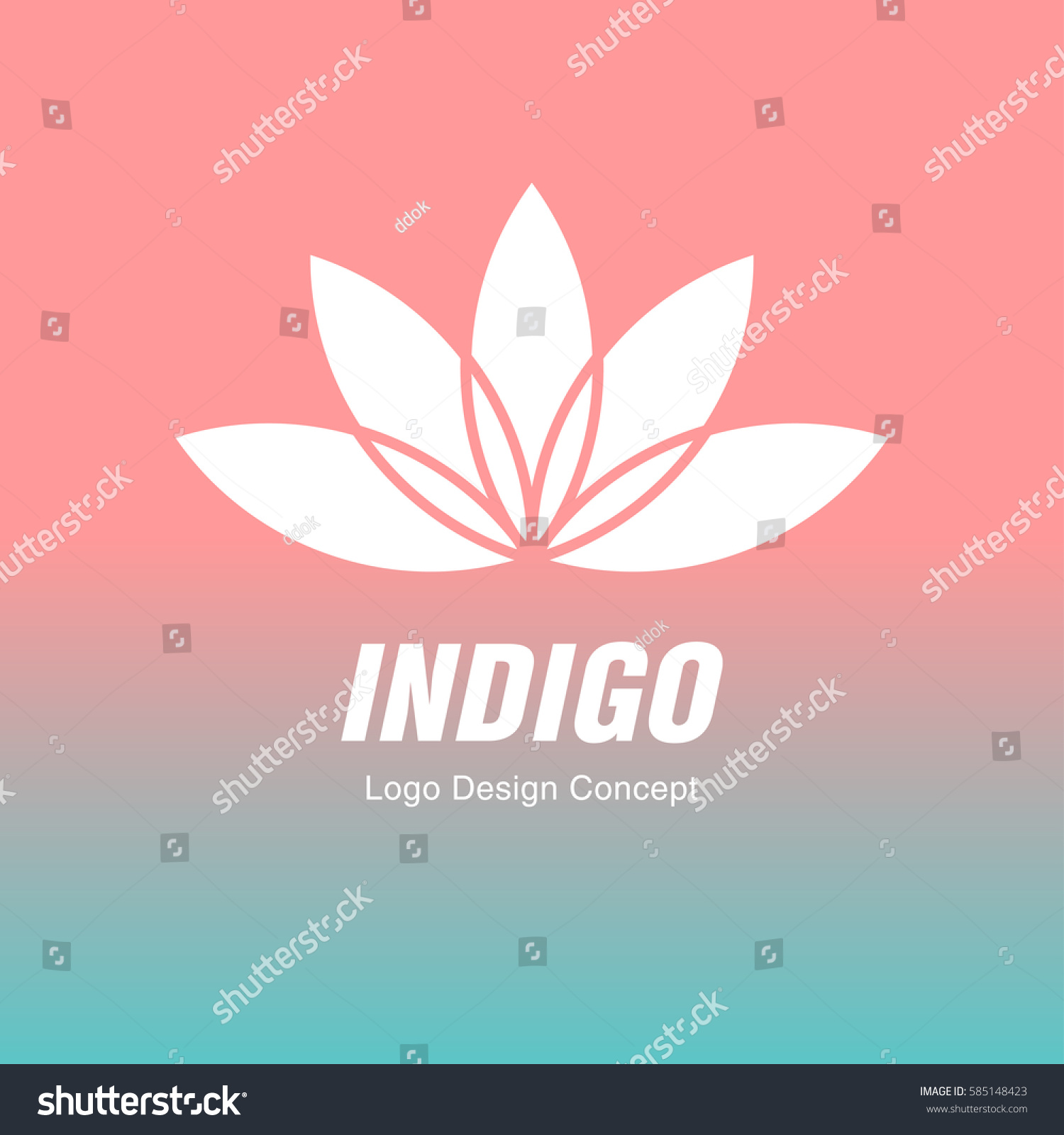 Abstract flower design silhouette creative symbol universal icon abstract flower design silhouette creative symbol universal icon lotus yoga spa sign simple logotype template for premium business gradient background izmirmasajfo