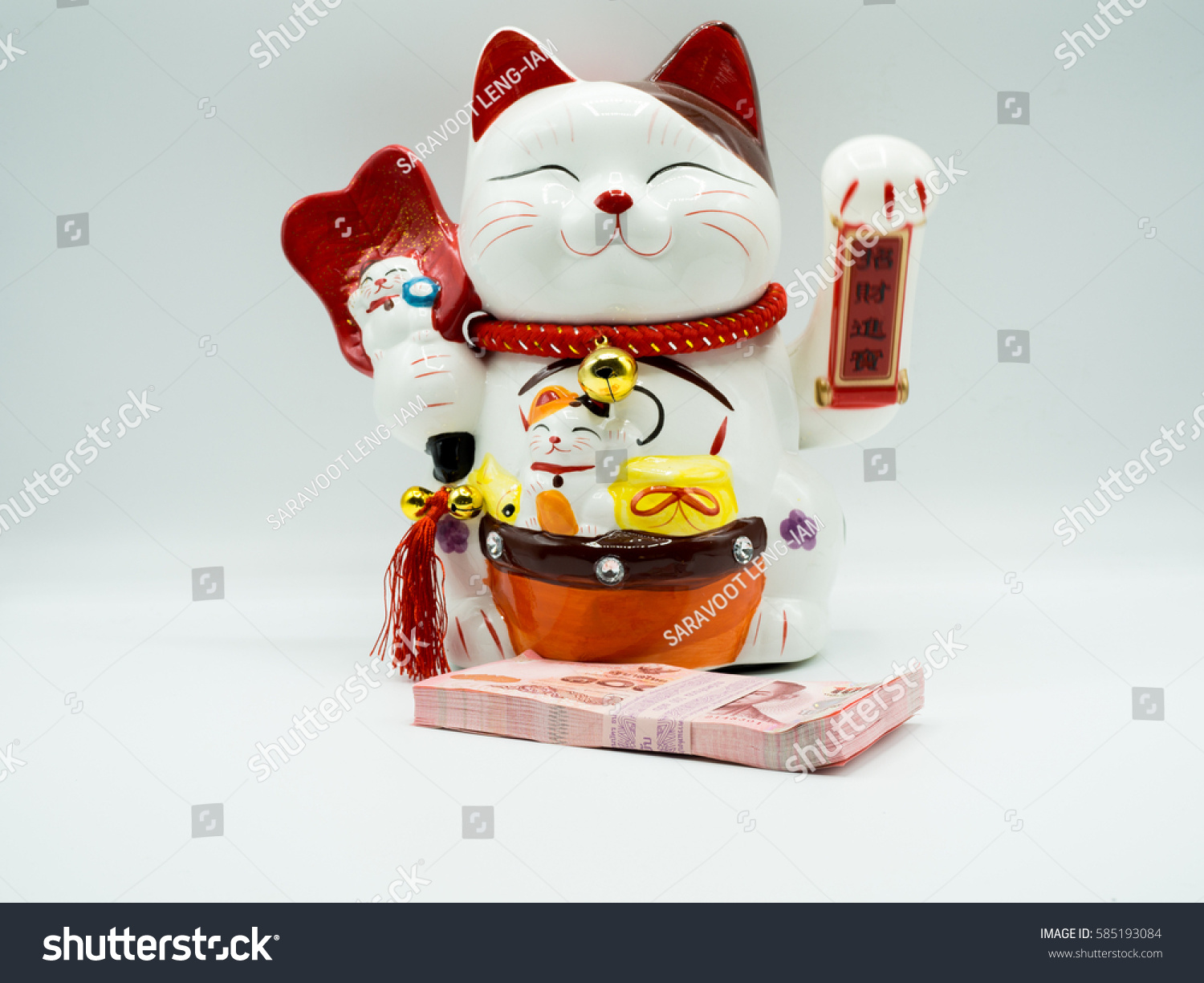 Cat beck isolated on white symbol stock photo 585193084 shutterstock cat beck isolated on white the symbol of luck for trading biocorpaavc Image collections