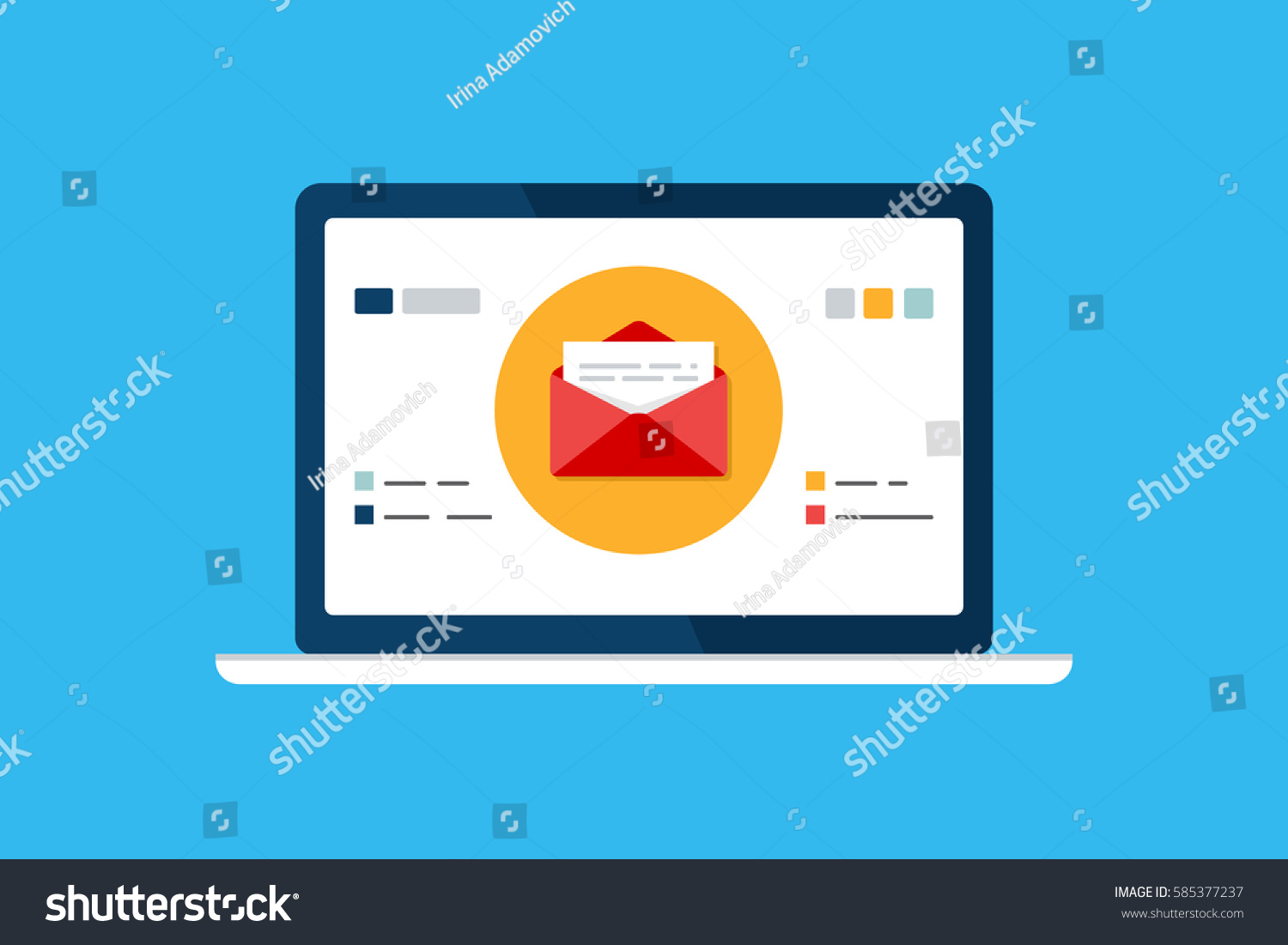 Email Marketing Template Email Management Message Stock Vector ...