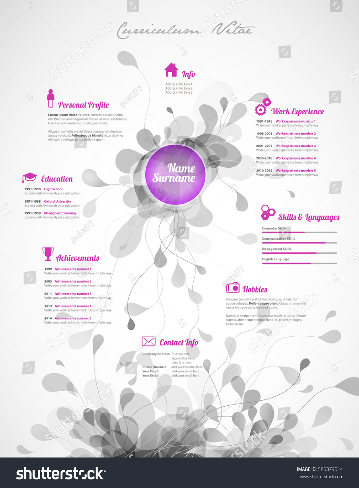 colorful resume templates colorful resume templates free color