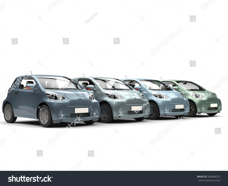 Row Cool Urban Modern Compact Cars Stock Illustration - Cool modern cars