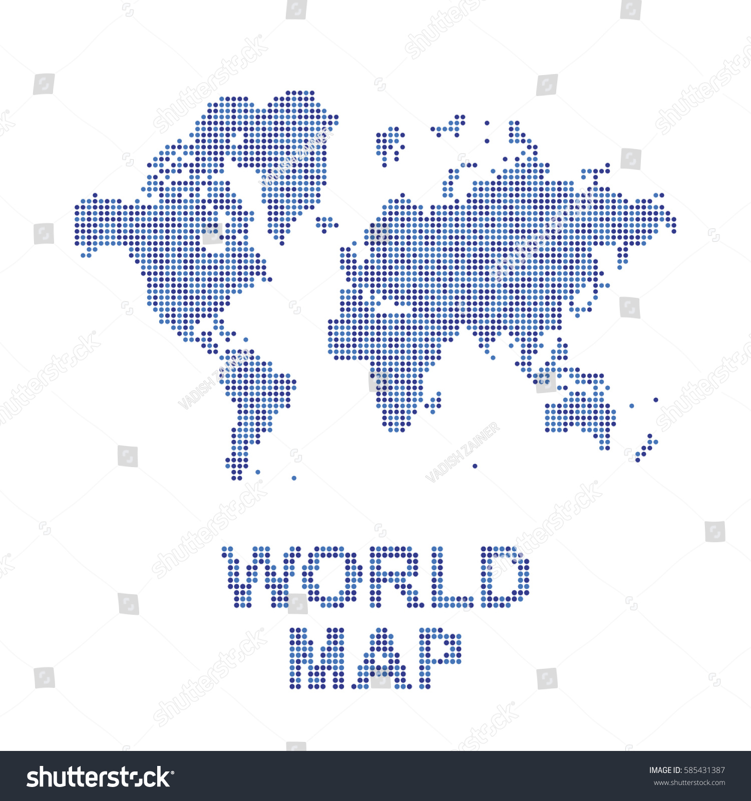 Abstract world map round dots flat stock vector 585431387 abstract world map round dots flat stock vector 585431387 shutterstock gumiabroncs Images