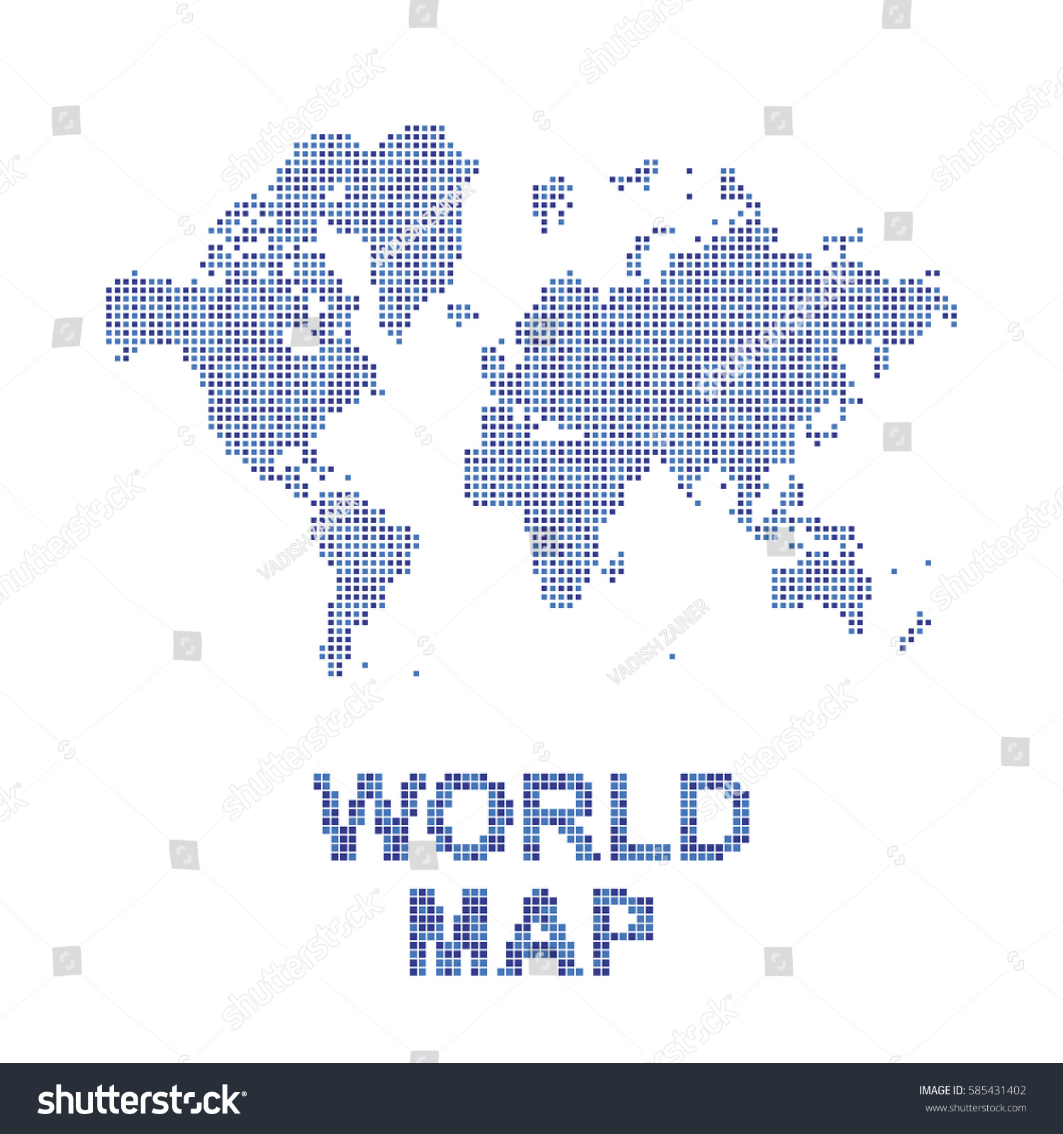 Abstract world map square dots flat stock vector hd royalty free abstract world map in a square dots flat vector illustration eps 10 gumiabroncs Choice Image