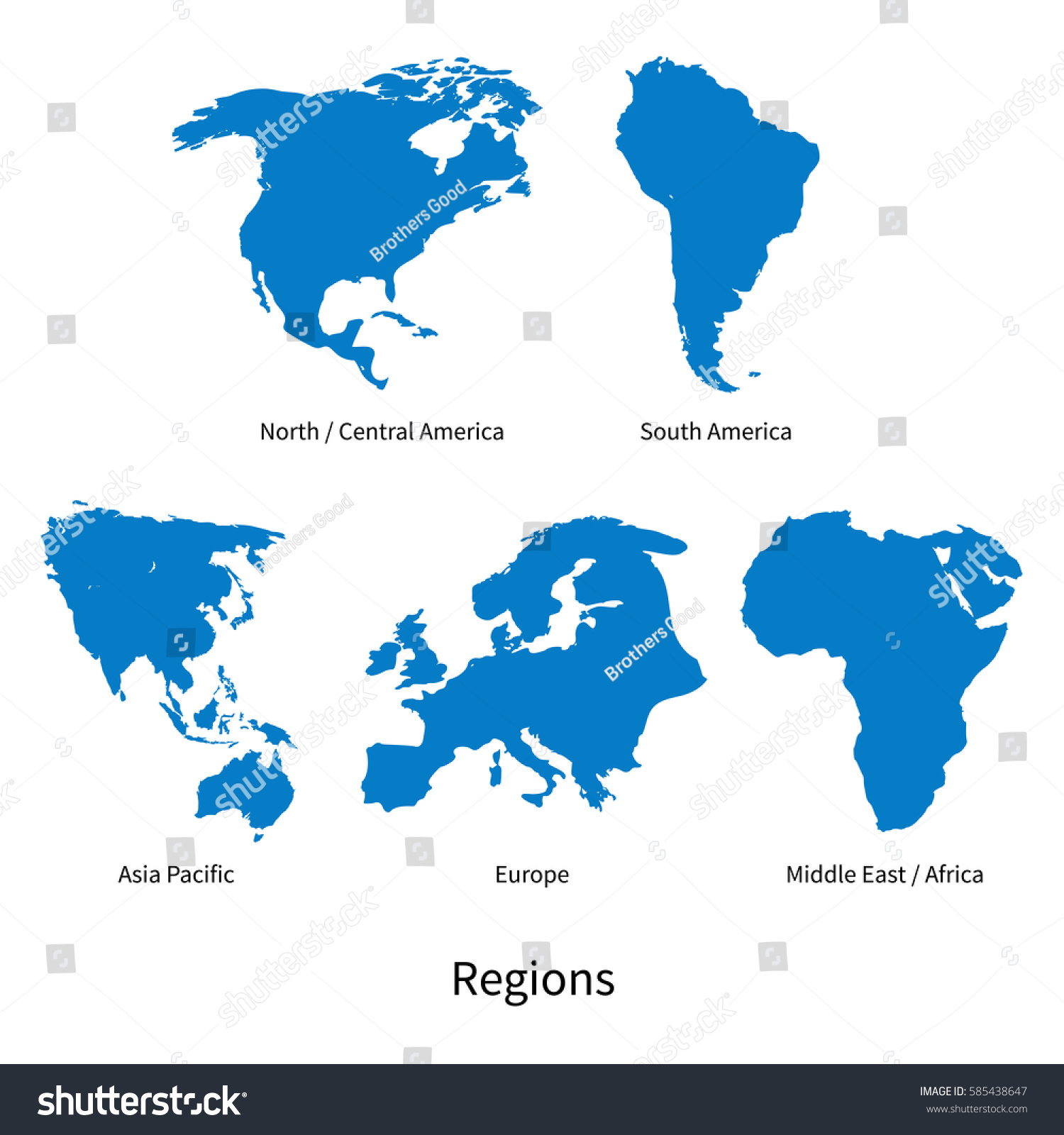 Picture of: Detailed Vector Map North Central America Stock Vector Royalty Free 585438647