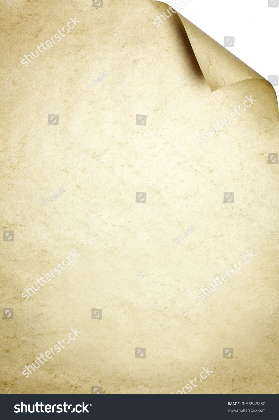 Brown writing paper