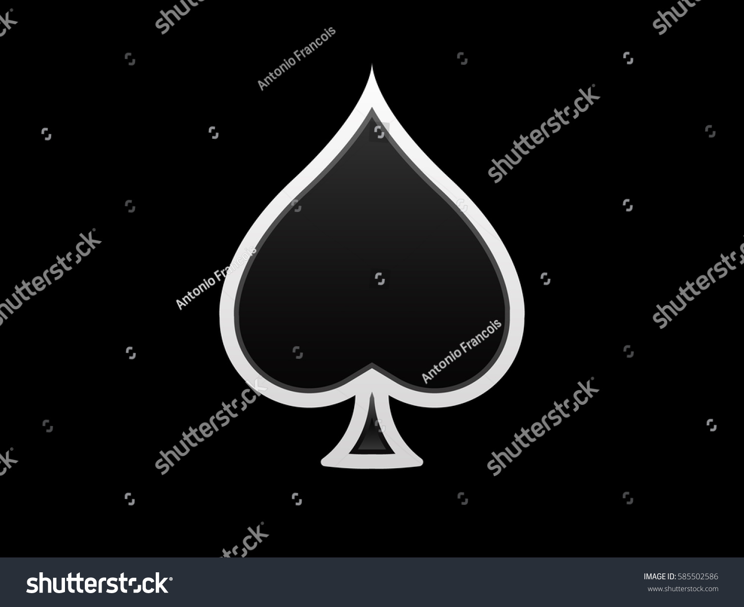 Playing Card Spades Icon Stock Photo Photo Vector Illustration