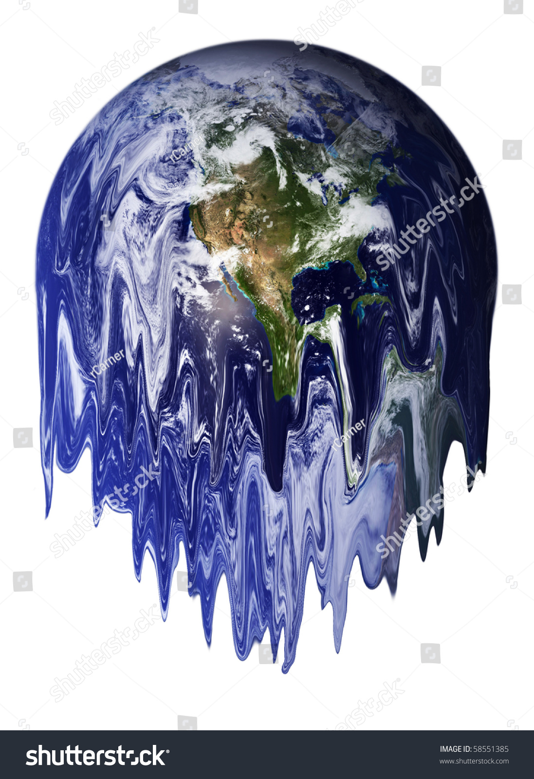 earth melting result global warming stock photo 58551385