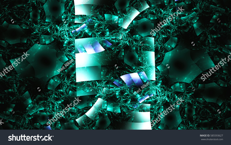 Chaos Broken Glass Ice Crystals 3d Stock Illustration 585593627
